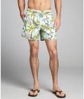 Vilebrequin aigue marine matte nylon bengal tiger print 'Moorea' swim trunks