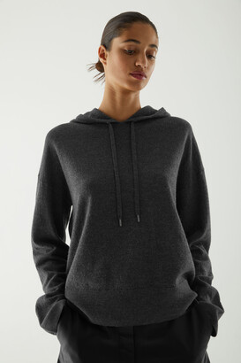 Cos Boiled-Wool Hooded Jumper