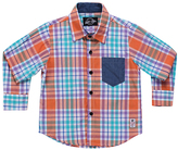 Something Strong Orange & Blue Plaid Button-Down - Toddler & Boys
