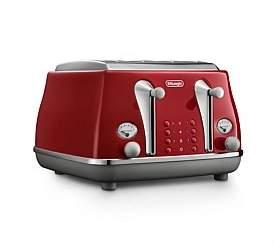De'Longhi Delonghi Ctoc4003R Icona Capitals 4 Slice Toaster - Red