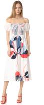 Tanya Taylor Ribbon Floral Zanna Dress