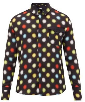 Paco Rabanne Polka Dot-print Crepe Shirt - Black