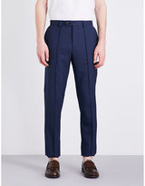 Brunello Cucinelli Slim-fit Tapered Wool Crepe Trousers