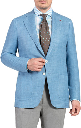 Isaia Men's Textured Wool Two-Button Jacket