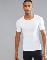 Spanx Cotton Compression T-Shirt Hard Core In White