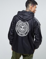 Obey Coach Jacket With Hood And Stamp Back Print