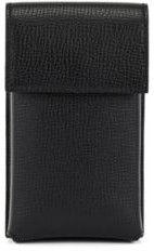 HUGO BOSS Neck Pouch In Italian Leather With Detachable Strap - Black