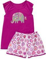 Gymboree Elephant 2-Piece Sleep Set