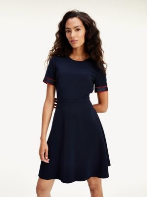Tommy Hilfiger Fit And Flare Twill Dress