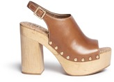 Sam Edelman 'Marley' leather slingback wooden clog sandals