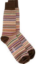 Paul Smith woven stripe socks - men - Cotton/Nylon/Spandex/Elastane - One Size