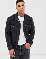 Levi's original denim trucker jacket in liquorice black wash
