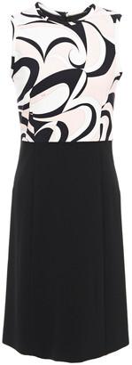 Emilio Pucci Paneled Printed Ponte Mini Dress