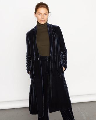 Jigsaw Silk Velvet Side Split Coat