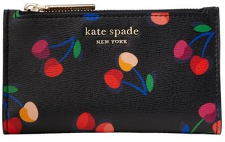 Kate Spade Spencer Cherries Small Leather Bi-Fold Wallet