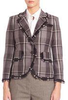 Thom Browne Plaid Button-Down Jacket