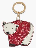 Talbots Leather Key Fob-Polar Bear
