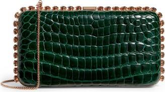 Analeena Embellished Crocodile Box Clutch Bag