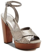 Dolce Vita Callista Metallic Platform High Heel Sandals