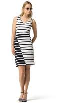 Tommy Hilfiger Final Sale-Shadow Stripe V-Neck Dress