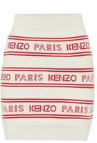 Kenzo Logo cotton-blend miniskirt