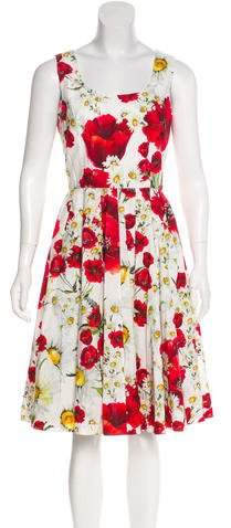 Dolce & Gabbana 2016 Poppy & Daisy Print Dress