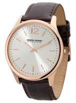 Jorg Gray Signature Collection Men's Quartz Watch with White Dial Analogue Display and Brown Leather Strap JGS2560