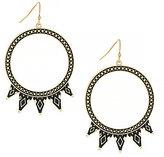 Jessica Simpson Home Grown Tribal Spike Drop Hoop Earrings