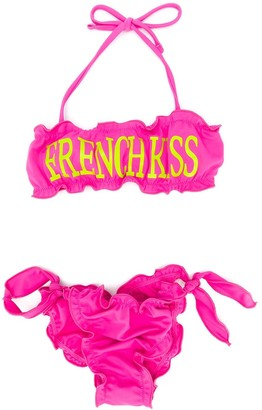 Alberta Ferretti Kids French Kiss bikini set
