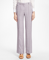 Brooks Brothers Wide Leg Linen-Blend Pants
