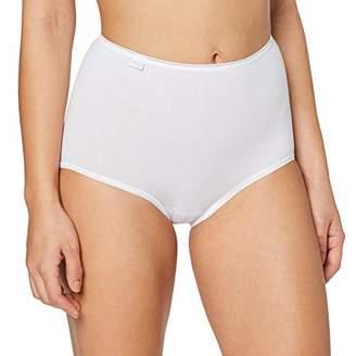 Sloggi Women's 24/7 Cotton Maxi Boxer Briefs, White (WHITE), 44