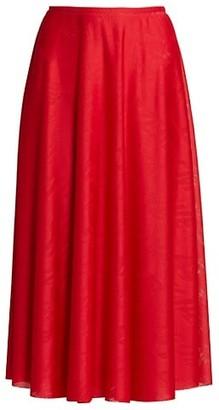 Balenciaga Jacquard Stretch A-Line Skirt