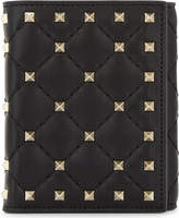 Valentino Rockstud small leather French wallet