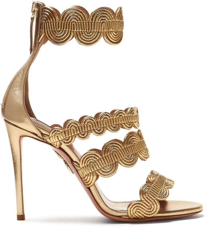 Aquazzura Jodhpur 105 leather sandals