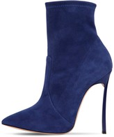 Casadei 120mm Blade Stretch Suede Ankle Boots
