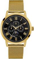 GUESS Men's Gold-Tone Stainless Steel Mesh Bracelet Watch 43mm U0871G2