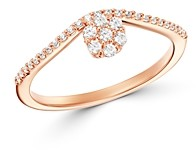 Bloomingdale's Cluster Diamond Chevron Ring in 14K Rose Gold, 0.20 ct. t.w. - 100% Exclusive