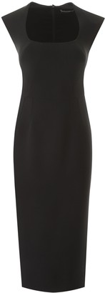 Dolce & Gabbana Square-Neck Fitted Midi Dress