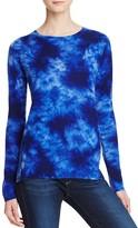 Aqua Cashmere Tie Dye Crewneck Cashmere Sweater