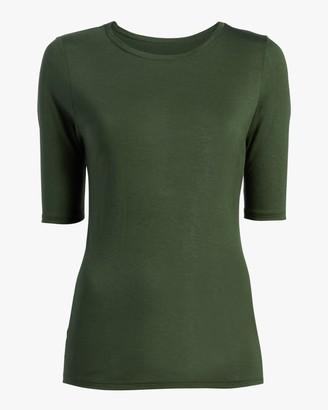 Fite Luxury Tees Cashmere Crewneck Three-Quarter Sleeve Top