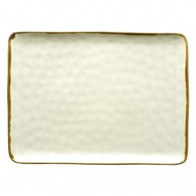 Thumbnail for your product : Rose & Tulipani - Concerto Ivory Avorio Rectangular Tray O 36 cm W 26 5 cm