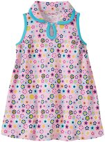 Zutano Flower Shower Keyhole Collar Dress (Baby) - Pink - 6 Months