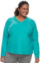 Tek Gear Plus Size Microfleece V-Neck Top