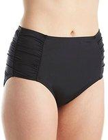 Jantzen Women's Plus Size Side Shirred High Waist Bikini Bottom