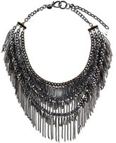 Sequin Layered Chain Necklace
