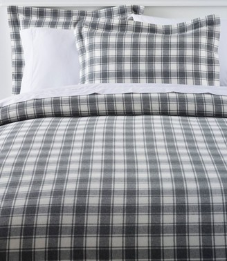 L.L. Bean Ultrasoft Comfort Flannel Comforter Cover Collection, Check