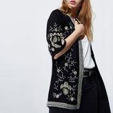 River Island Womens Black embroidered kimono