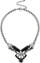Topshop Box Chain Rhinestone Collar