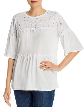 Single Thread Embroidered Tiered Top