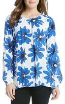 Karen Kane Women's Daisy Print Handkerchief Top